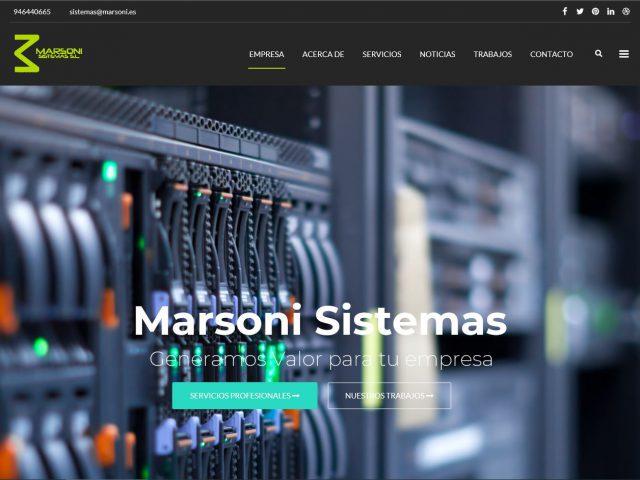 Diseño Web Marsoni