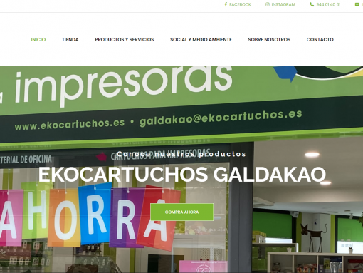 Diseño Web ekocartuchosgaldakao